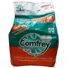 Comfrey Adult Pant type Easy Wear Diapers Medium - 10's Size 24inches to 33inches