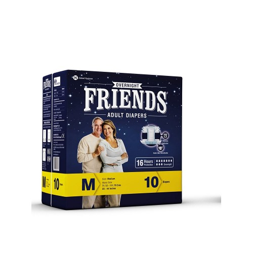 Friends Overnight Adult Diaper 10'S Pack (Medium)