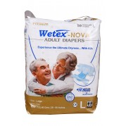 Wetex Nova Adult Diapers Premium, With ADL, Pack of 10