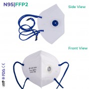 CAREVIEW CV1221HV  N95 | FFP2 Head loop With Exhalation Valve Mask - FDA, DRDO & CE certified with 6 Layered Filtration