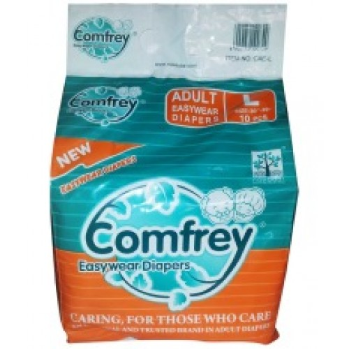 Comfrey Adult Pant type Easy Wear Diapers Large - 10's Size 30inches to 39inches