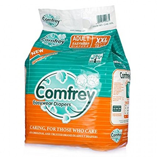 Comfrey Adult Pant type Easy Wear Diapers XXLarge - 10's Size 41inches to 60inches