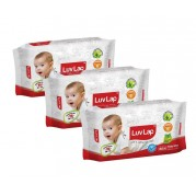 Luvlap Paraben Free Baby Wet Wipes with Aloe Vera (80 Wipes)