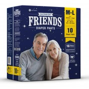 Friends Adult Overnight Diaper Pants (Medium -Large)