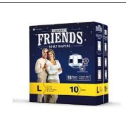 Friends Overnight Adult Diaper 10's Pack - Large