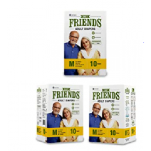 Friends Adult Diapers - Easy - Medium ( pack of 3 )