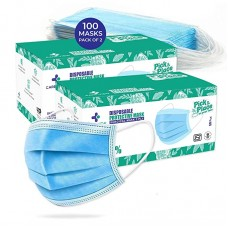 CAREVIEW™ CV2992, SITRA & BIS (ISI) Approved, 3 Ply Disposable Surgical Mask With Built in Metal Nose Pin and 1 Melt Blown Layer
