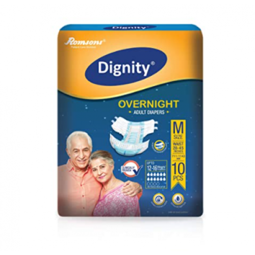 "Dignity Overnight Adult Diapers Medium size 28"" - 45 inches"