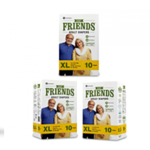 Friends Adult Diapers - Easy - Extra Large (Pack of 3 )