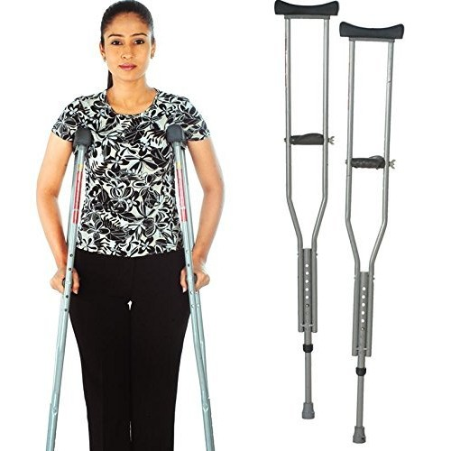 Vissco Invalid Under Arm Auxiliary Crutches ( Pair)