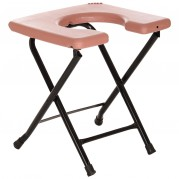 Aaram Cross-Legged Folding Commode Stool (Maroon)