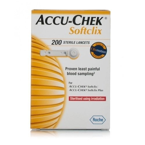 Accu Chek Softclix Lancet, Pack of 200 (Multicolor)