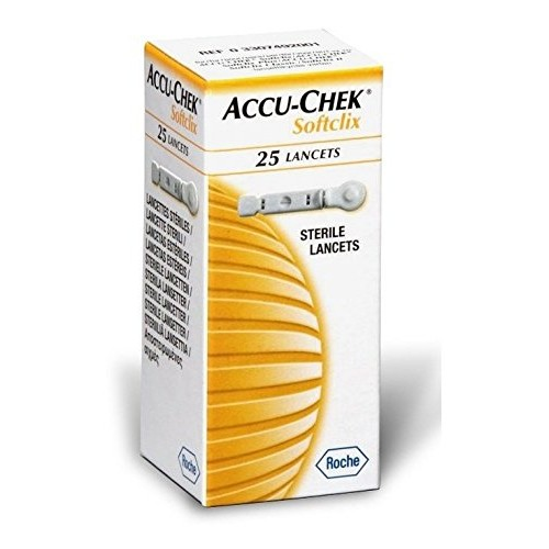 Accu Chek Softclix Lancet, Pack of 25 (Multicolor)