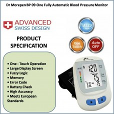 Dr Morepen BP One BP09 Fully Automatic Blood Pressure Monitor