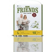 Friends Adult Diapers - Easy - Large (38-60 inches, 96.52 - 152.40 cms)