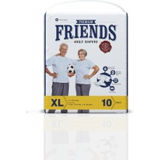 Friends Premium Adult Diapers - Extra Large (48-68 inches, 121.92 - 172.72 cm)