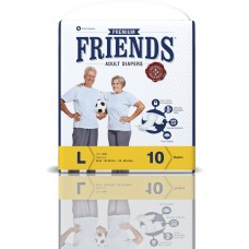 Friends Premium Adult Diapers - Large (38-60 inches, 96.52 - 152.40 cms)