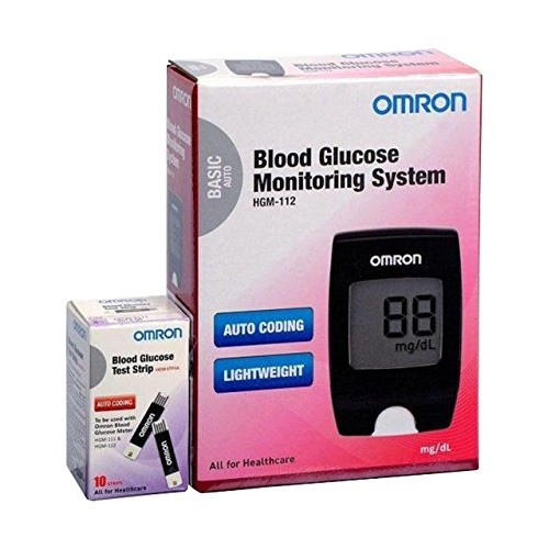 Omron HGM-112 Glucometer (Vial of 10 strips free)