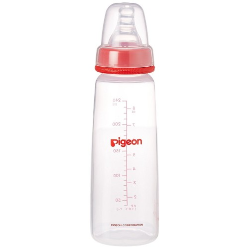 Pigeon Peristaltic 240ml Nursing Bottle Kpp with L Size Nipple (Red)