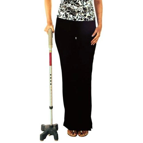 Vissco Invalid L-Shape Quadripod Walking Stick - Universal