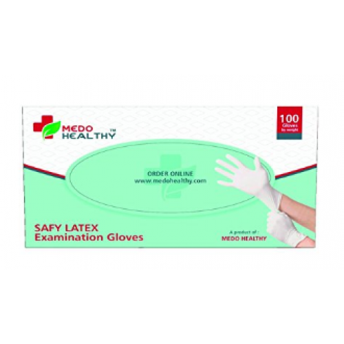 Medohealthy Safy Latex Disposable Examination Gloves - Medium