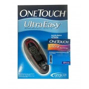 Johnson & Johnson One Touch Ultra Easy Glucometer (Vial of 10 Strips Free)